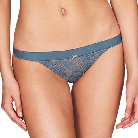 Heidi Klum Intimates Blue Fleur Fantasy Bikini Brief
