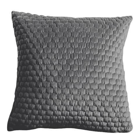 Gallery Grey Honeycomb Quilted Cushion 45 x 45cm