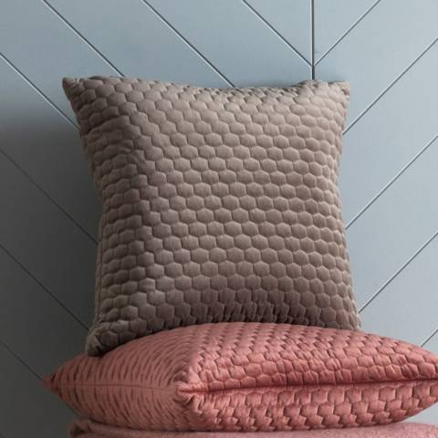 Gallery Taupe Honeycomb Quilted Cushion 45 x 45cm