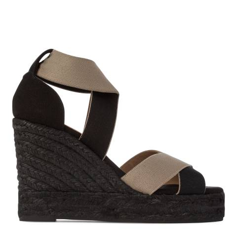 Castaner Womens Black Berenice Wedge Espadrilles