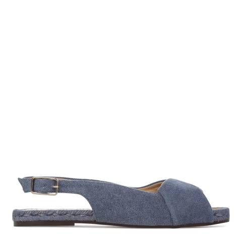 Castaner Womens Blue Cotton Denim Alba Espadrilles