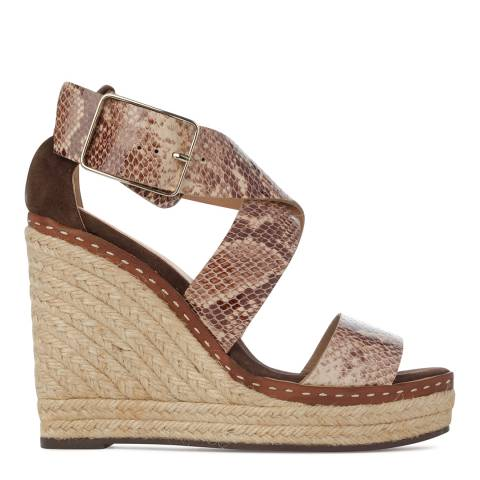 Castaner Womens Brown Eulalia Wedge Espadrilles