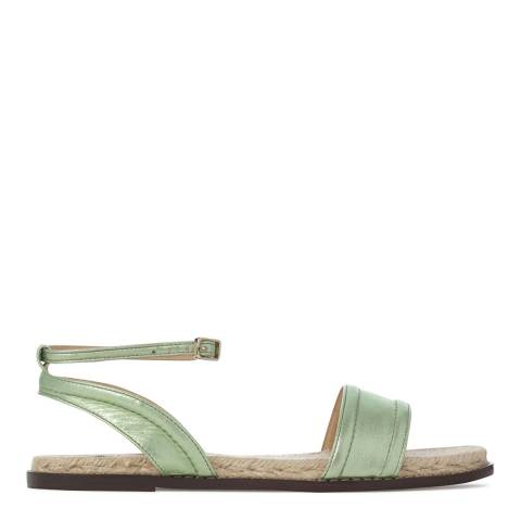 Castaner Womens Green Metallised Leather Emma Sandals