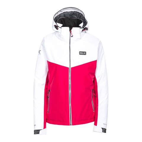 DLX White/Red Crista Ski Jacket