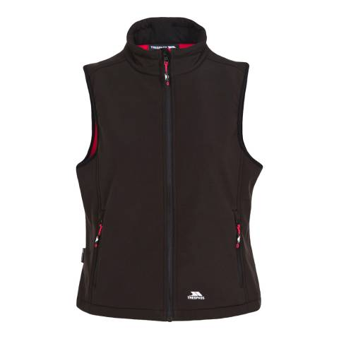 Trespass Women's Black Norma Softshell Gilet