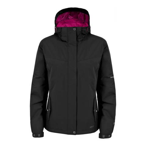 Trespass Black Malissa Waterproof Jacket