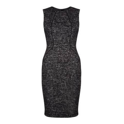 Hobbs London Black/Ivory Equestrian Dress