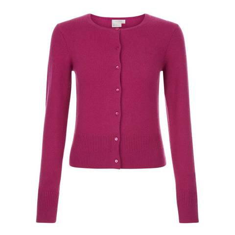 Hobbs London Heather Pink Kensington Cardigan