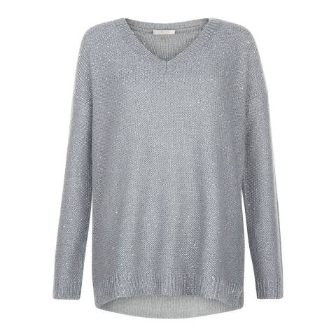 Hobbs London Soft Grey Constellation Jumper