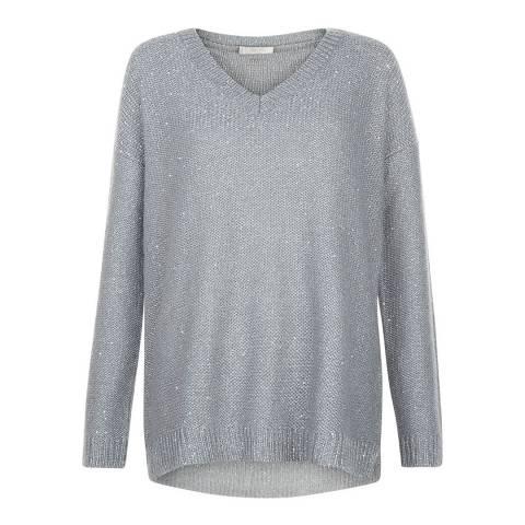 Hobbs London Soft Grey Constellation Sweater