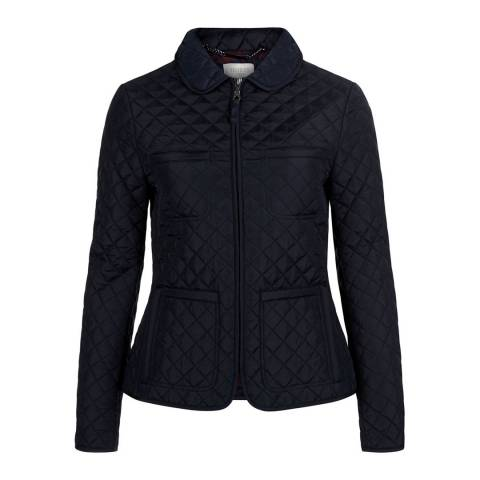 Hobbs London Navy Quilted Kory Jacket