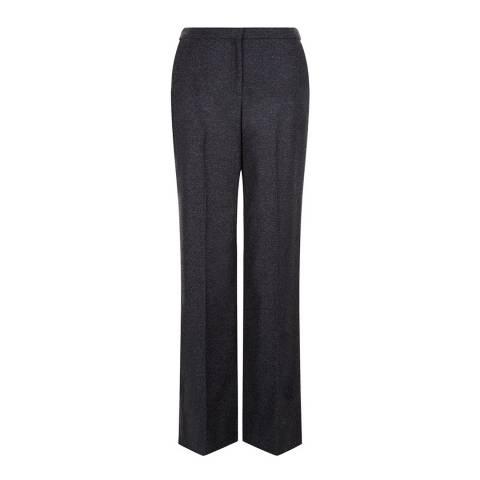 Hobbs London Grey Melange Aine Trousers