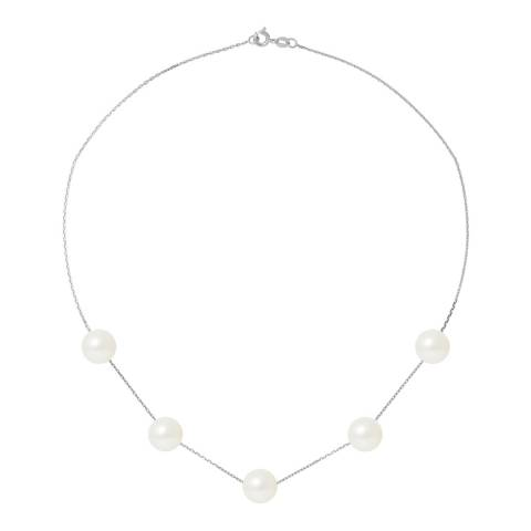 Just Pearl White 5 Pearl White Gold Necklace