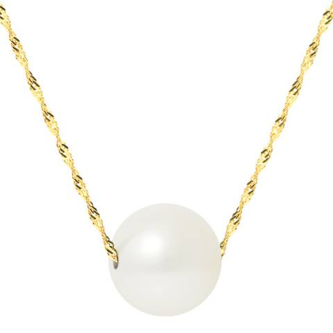 Just Pearl White/Yellow Gold Pearl Necklace