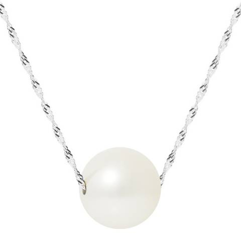 Just Pearl White/Gold Pearl Necklace