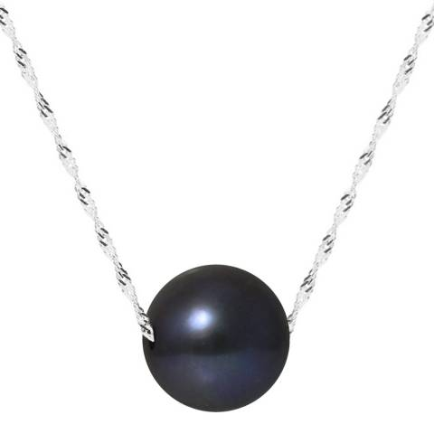 Just Pearl Black/ White Gold Pearl Necklace