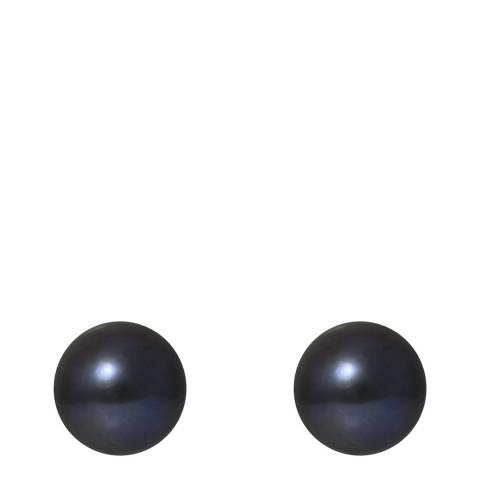 Just Pearl Black Pearl Stud Earrings