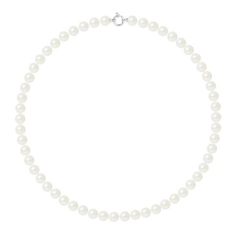 Mitzuko White/Silver Pearl Choker Necklace
