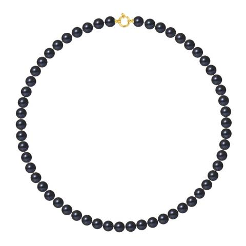 Mitzuko Black Yellow Gold Pearl Choker Necklace