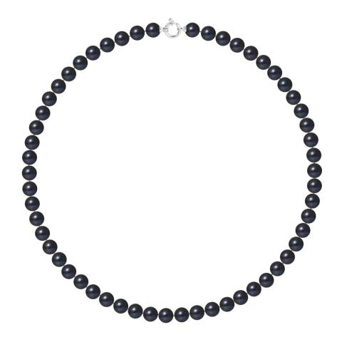 Mitzuko Black White Gold Pearl Choker Necklace