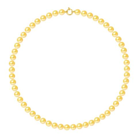 Mitzuko Yellow Gold Pearl Choker Necklace