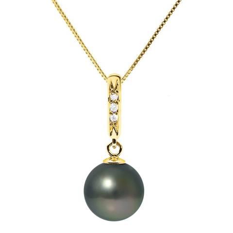 Mitzuko Black Pearl and Diamond Necklace