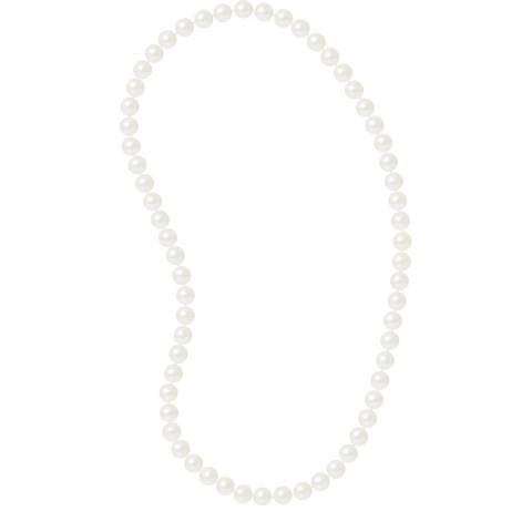 Just Pearl White Sautoir Pearl Necklace