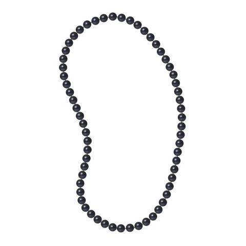 Just Pearl Black Sautoir Pearl Necklace