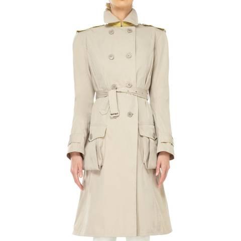 Max Studio Beige Belted Raincoat