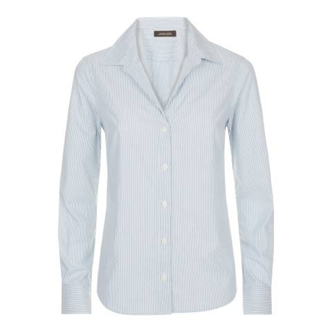 Jaeger Blue/White Double Stripe Shirt