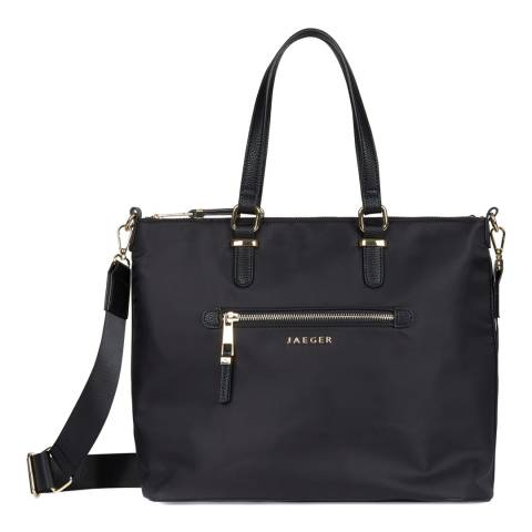 Jaeger Black Kate Nylon Tote Bag