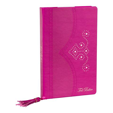 Ted Baker Bright Purple Brogue Citrus Bloom Notebook