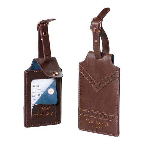 Ted Baker Walnut Brown Luggage Tag Set