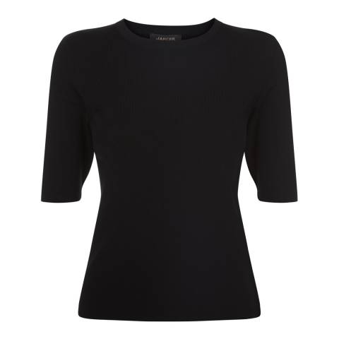 Jaeger Black Compact Knit Tee