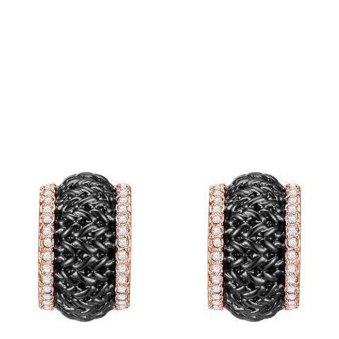 Lilly & Chloe Rosegold/Black Crystal Elements Swarovski Earrings
