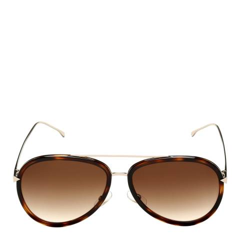 Fendi Women's Brown/Gold Funky Angle Sunglasses 57mm