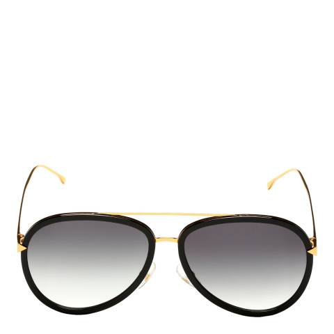 Fendi Women's Black/Gold Funky Angle Sunglasses 57mm