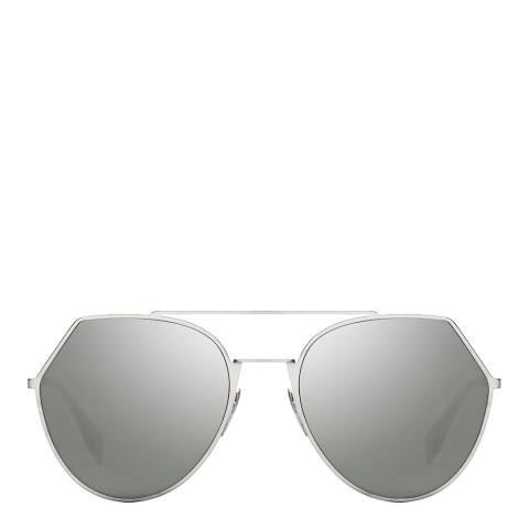 Fendi Women's Silver Eyeshine Sunglasses 55mm