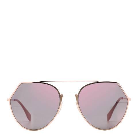 Fendi Women's Rose Gold Gradient Sunglasses 55mm