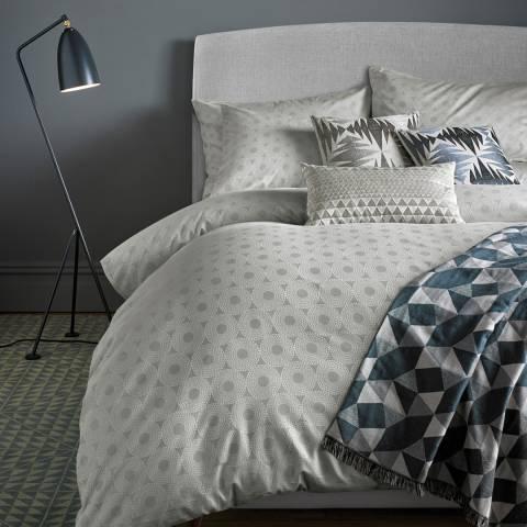 Niki Jones Silver Concentric Housewife Pillowcase