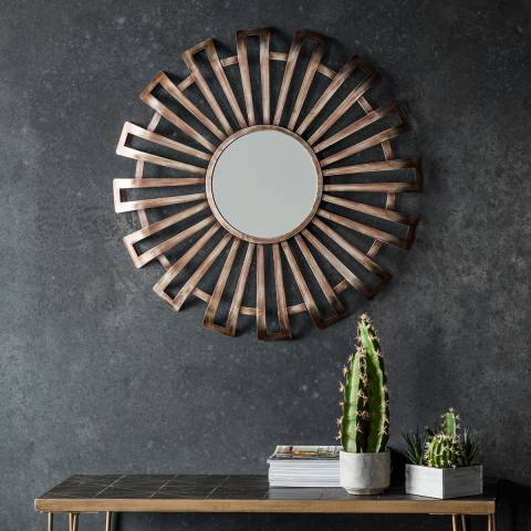 Gallery Bronze Nixon Wall Mirror