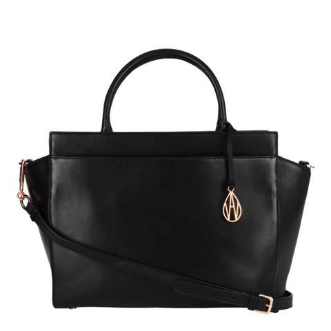 Amanda Wakeley Black The Sutherland Leather Bag
