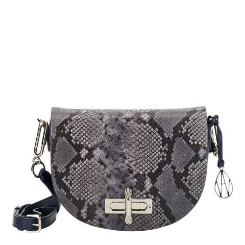 Amanda Wakeley Midnight Python The Niven Crossbody Bag