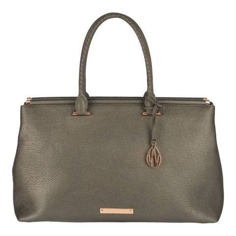 Amanda Wakeley Taupe Python The Brando Bag