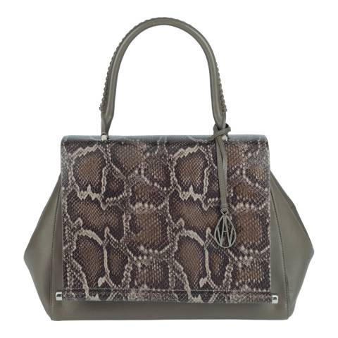 Amanda Wakeley Grey Douglas Leather Bag