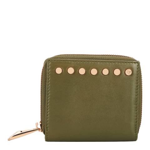 Amanda Wakeley Khaki Green The Jagger Leather Purse