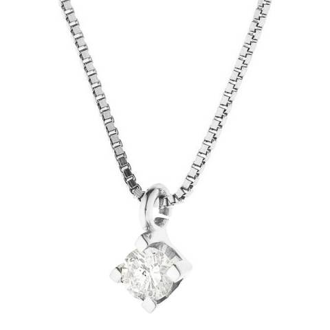 Only You White Gold  Solitaire Diamond Necklace 0.15 cts