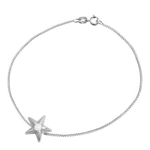 Only You Silver Star Diamond Bracelet 0.03 Cts