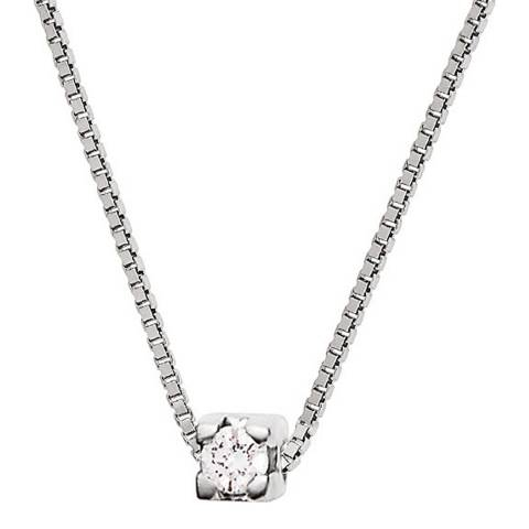 Only You Silver Diamond Venitienne Link Necklace 0.05 cts