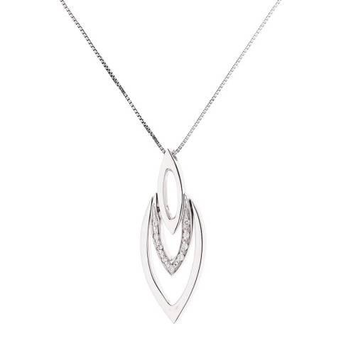 Pretty Solos Silver Diamond Pendant Necklace 0.05Cts